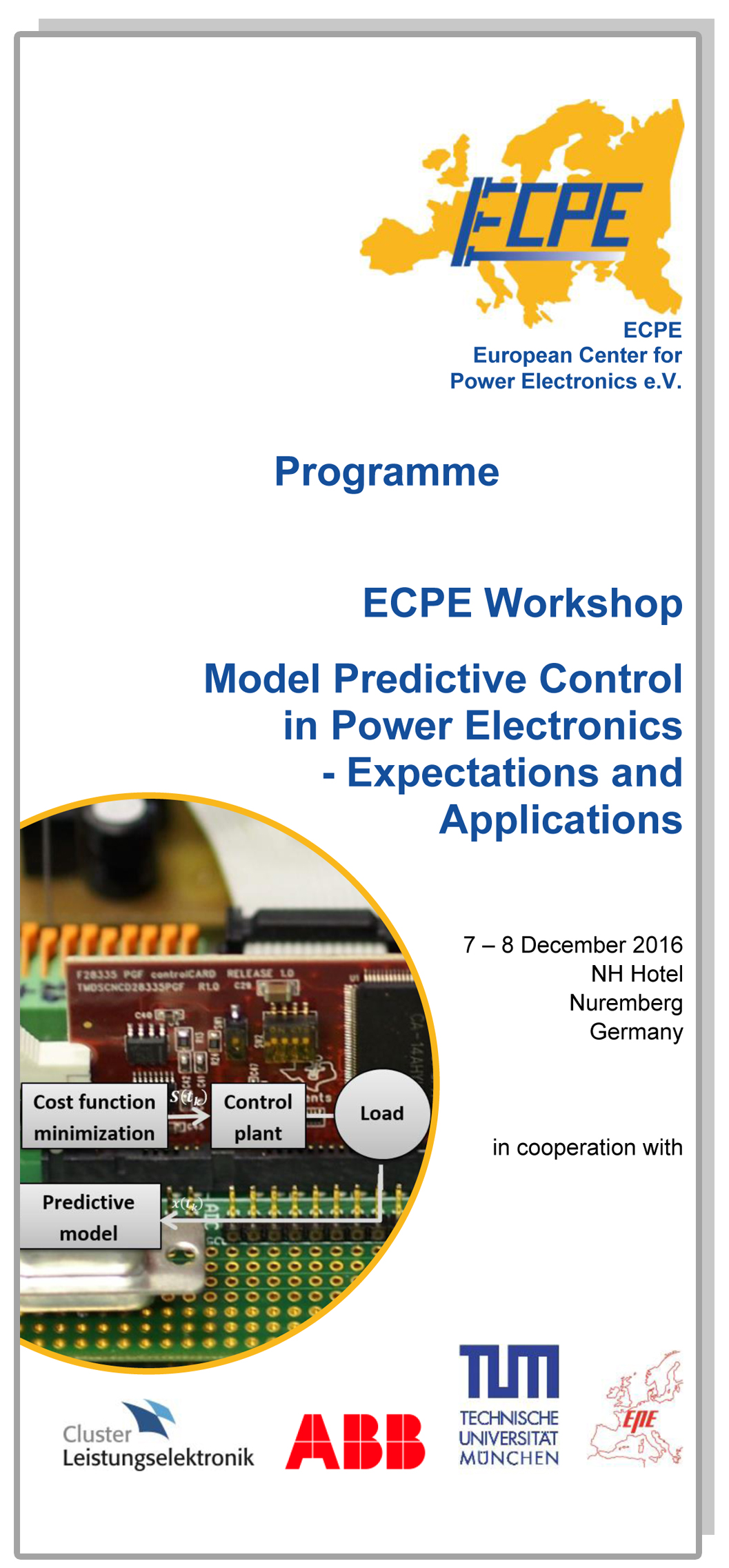 ECPE Workshop: Model Predictive Control in Power Electronics
