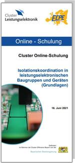 ONLINE | Cluster Online-Schulung: Isolationskoordination in leistungselektronischen Baugruppen und Geräten (Grundlagen)