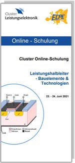 ONLINE | Cluster Online-Schulung: Leistungshalbleiter - Bauelemente & Technologien